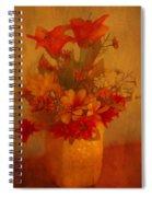 Fall Flower Bouquet Spiral Notebook