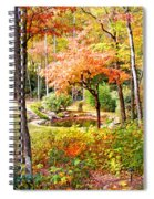 Fall Folage And Pond Spiral Notebook
