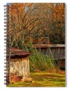 Fall Foliage At Meems Bottom Bridge Spiral Notebook