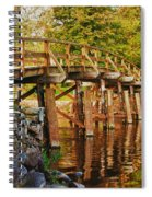Fall Foliage Over The North Bridge Spiral Notebook