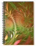 Fall Fractal Fields Spiral Notebook