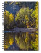 Autumn Reflections In Fort Mcmurray Spiral Notebook