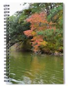 Fall Landscape Around The Lake 2 Spiral Notebook