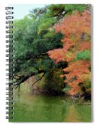 Fall Landscape Around The Lake 5 Spiral Notebook