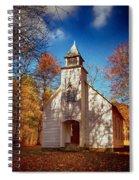 Fall Morning At Palmer Chapel In Cataloochee Spiral Notebook