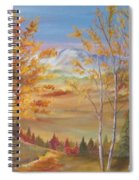 Fall Mountain Path Spiral Notebook