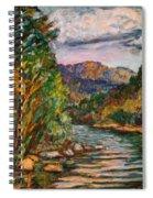 Fall New River Scene Spiral Notebook
