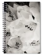 Fall Of Flowers Spiral Notebook