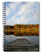 Fall On The Lake Spiral Notebook