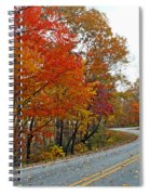Fall Peak Along Slick Fisher Road Spiral Notebook
