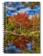 Fall Reflections In Maine Img 6312 Spiral Notebook