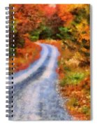 Fall Road To Paradise Spiral Notebook