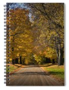 Fall Rural Country Gravel Road Spiral Notebook