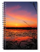 Fall Sunset In The Mead Wildlife Area Spiral Notebook
