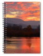 Fall Sunset Spiral Notebook