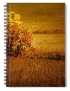 Fall Tree And Field #2 Spiral Notebook