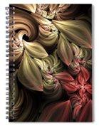 Fallen From Grace Abstract Spiral Notebook