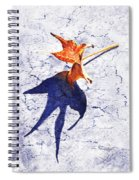 Fallen Leaf King Size Shadow Spiral Notebook
