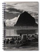 Fallen Sand Castles Spiral Notebook