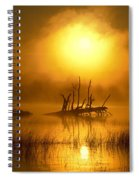 Fallen Tree In Misty Sunrise At Spiral Notebook