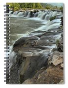 Falling Across The New River Spiral Notebook
