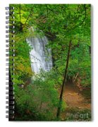 Falling Foss Waterfall In North York Moors National Park Spiral Notebook