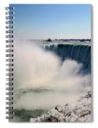 Falling Ice Spiral Notebook