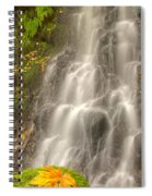 Falling On The Leaf Spiral Notebook