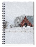 Falling Snow In Idaho Falls Spiral Notebook