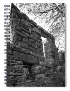 Falling Wall Jerome Black And White Spiral Notebook