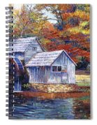 Falling Water Mill House Spiral Notebook