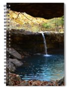 Falling Water View Spiral Notebook