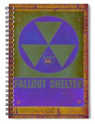 Fallout Shelter Abstract Spiral Notebook