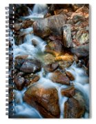 Falls And Rocks Spiral Notebook