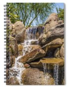 Falls At Jackalope Ranch Spiral Notebook
