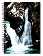 Falls In Winter Spiral Notebook