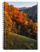Fall's Mountainside Cascade Spiral Notebook