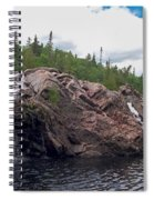 Falls On The Aguasabon River Spiral Notebook
