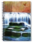 Falls Panorama-features In Groups Rivers Streams And Waterfalls-visions Of The Night Spiral Notebook