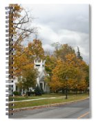 Autumn Trees At The Roadside Spiral Notebook