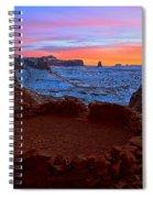 False Kiva Sunset Spiral Notebook