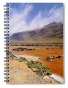 Famara Cliffs And Salinas Del Rio On Lanzarote Spiral Notebook