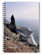 Famara Cliffs On Lanzarote Spiral Notebook