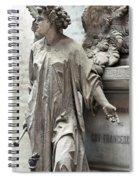 Famiglia Cavaliere Del Francesco Canti Memorial Marker Detail I  Spiral Notebook