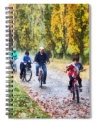 Family Bike Ride Spiral Notebook