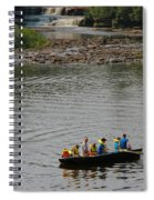 Family Canoeing At Lower Tahquamenon Falls Spiral Notebook