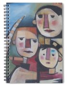 Family In Garden With Cat Spiral Notebook