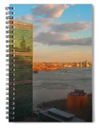 United Nations Secretariat With Chrysler Building Reflection Spiral Notebook