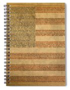Famous Patriotic Quotes American Flag Word Art Spiral Notebook