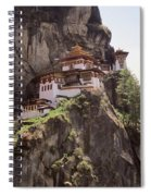 Famous Tigers Nest Monastery Of Bhutan 12 Spiral Notebook